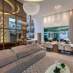Casa Paulínia Salas de estar modernas por Designer de Interiores e Paisagista Iara Kílaris Moderno