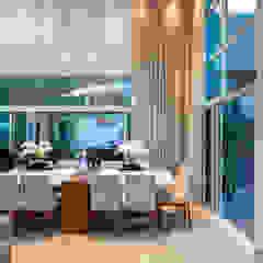 Casa Paulínia Salas de jantar modernas por Designer de Interiores e Paisagista Iara Kílaris Moderno