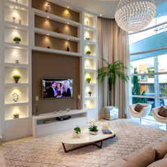 Casa Paulínia Salas multimídia modernas por Designer de Interiores e Paisagista Iara Kílaris Moderno