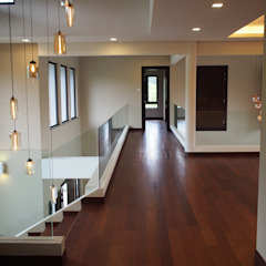 Luxury Bungalows @ Lorong Gurney Kuala Lumpur Tropical corridor, hallway & stairs by Mode Architects Sdn Bhd Tropical