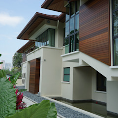 Luxury Bungalow In Sungai Penchala Kuala Lumpur Tropical style houses by Mode Architects Sdn Bhd Tropical
