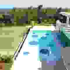 Piscinas exteriores - Design exterior e projetos arquitetura por MJARC - Arquitectos Associados, lda Moderno