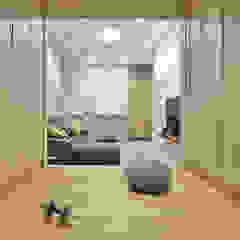 Minimalistyczna siłownia od 森畊空間設計 Minimalistyczny Kompozyt drewna i tworzywa sztucznego