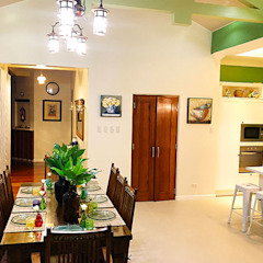 Mediterranean style dining room by SNS Lush Designs and Home Decor Consultancy Mediterranean