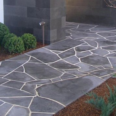 African Grey Crazy Paving (Flagstone) by Persian Tiles Modern Stone