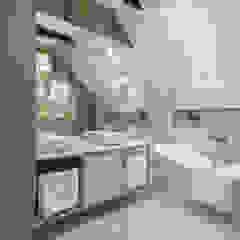 Projekt wnętrz w stylu eklektycznym. Eklektyczna łazienka od StudioDecor Eklektyczny
