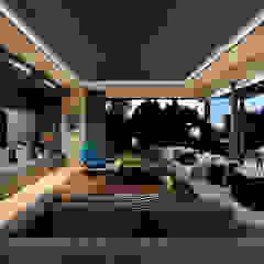 House La Croix Fresnaye Modern living room by KMMA architects Modern