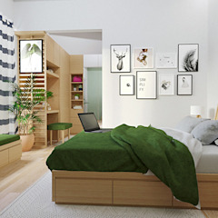Kitchen set & interior Kamar Tidur Gaya Skandinavia Oleh viku Skandinavia Kayu Lapis