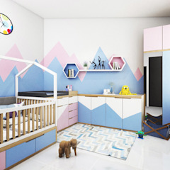 Bedroom Interior Kamar Bayi/Anak Modern Oleh viku Modern