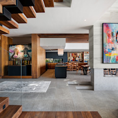HOUSE SEALION | FRESNAYE Modern dining room by Wright Architects Modern Concrete