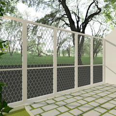 HS House Balkon, Beranda & Teras Minimalis Oleh TIES Design & Build Minimalis