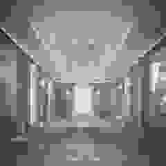 Grey Themed Indoor Pool Design من IONS DESIGN كلاسيكي رخام
