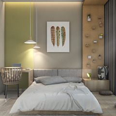Double Storey House Modern style bedroom by Oriwise Sdn Bhd Modern