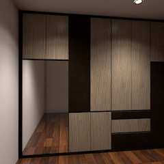 Wardrobe Modern style dressing rooms by Grandlim interior design & renovation Modern Plywood