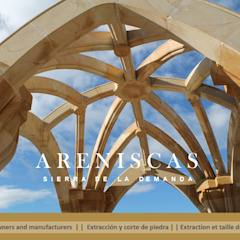 de Areniscas Sierra de la Demanda - ◉ - SIERRA Buff Sandstone quarries in Spain Clásico Piedra
