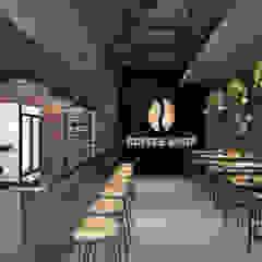 SARAÈ Interior Design 北欧デザインの ダイニング 合板(ベニヤ板) ブラウン