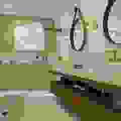 Arquitetura e Design de Interiores | Sítio em Santa Teresa Banheiros rústicos por Natusa Croce Arquitetura Rústico Cerâmica