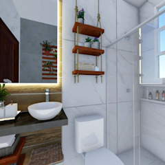 Asian style bathroom by Ortho Arquitetura e Urbanismo Asian Wood Wood effect