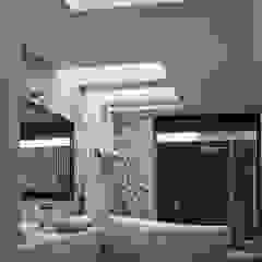 BAÑO PRINCIPAL ROA Baños modernos de AIDA TRACONIS ARQUITECTOS EN MERIDA YUCATAN MEXICO Moderno