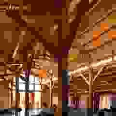 Salón de celebraciones Restaurante El Llano Salones de eventos de estilo clásico de NavarrOlivier Clásico Madera Acabado en madera