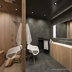 Asian style bathroom by MIRAI STUDIO Asian Stone