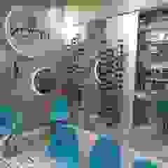 Izabella Biancardine Interiores Locaux commerciaux & Magasin modernes Turquoise
