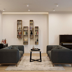 Дизайн інтер'єру двокімнатної квартири в стилі мінімалізм, Київ by Марина Янченкова Мінімалістичний