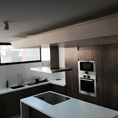 Vista General Cocina de AUTANA estudio Moderno Compuestos de madera y plástico