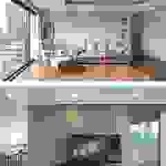 Salas de estar modernas por 바이제로 Moderno