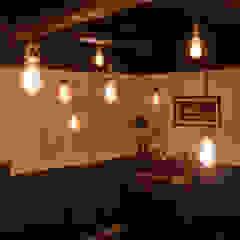 도시공간연구소 Rustic style living room MDF Brown