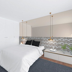 Projectos em Gaia- 2019 Quartos minimalistas por MIA arquitetos Minimalista