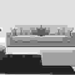 Decordesign Interiores ห้องนั่งเล่นโซฟาและเก้าอี้นวม สิ่งทอ Beige