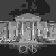 Luxury Home Exterior Design Ideas por IONS DESIGN Clássico Pedra