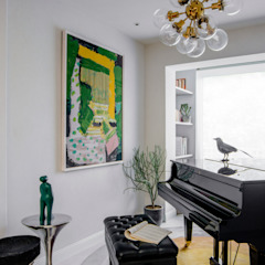 Piano Room C&M Media Eclectic style living room