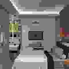 Industrial style bedroom by Fabiane Carvalho Arquitetura e Interiores Industrial Bricks