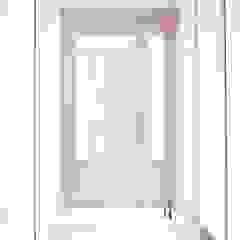 부산 전망 좋은 해운대 아파트 인테리어 모던스타일 복도, 현관 & 계단 by 로하디자인 모던