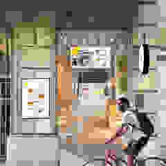 Burger Munch de Piedra Papel Tijera Interiorismo
