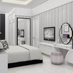DSL Studio ห้องนอนของแต่งห้องนอนและอุปกรณ์จิปาถะ สิ่งทอ White