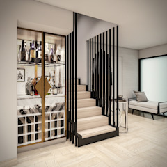 VIVIENDA FQ Salas modernas de PAR Arquitectos Moderno Madera Acabado en madera