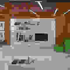 офис управляющей компании 680 кв.м. Офисы и магазины в стиле минимализм от lesadesign Минимализм