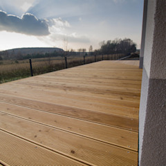 Bednarski - Usługi Ogólnobudowlane Modern balcony, veranda & terrace Wood