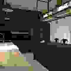 Projekt domu jednorodzinnego Industrialna kuchnia od KADA WNĘTRZA S.C. Industrialny
