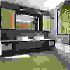 Projekt domu jednorodzinnego Industrialna łazienka od KADA WNĘTRZA S.C. Industrialny