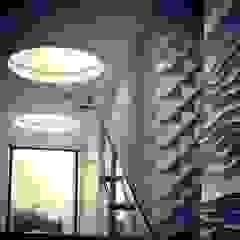 Casa CR6 Paredes y pisos de estilo moderno de O+C674 Arquitectos Moderno