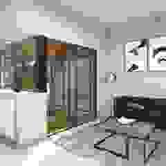 Salon minimaliste par Estudio NP+a Minimaliste Verre