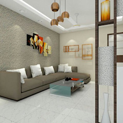 Salas de estar asiáticas por Jamali interiors Asiático