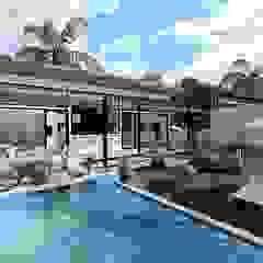 Eco Villa Tropikal Havuz HePe Design interiors Tropikal Demir/Çelik
