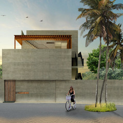 by Habitual Taller de Arquitectura Tropical کنکریٹ