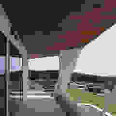 N12-house「回遊テラスのあるガレージハウス」 モダンデザインの テラス の Architect Show Co.,Ltd モダン