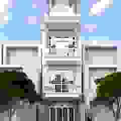 by Nguyen Phong Thiết kế nội thất Scandinavian OSB
